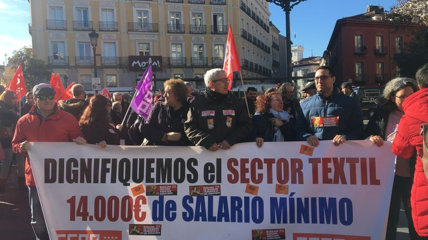 Manifestación del sector textil en Madrid