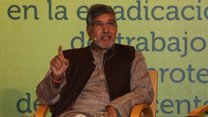 Kailash Satyarthi en el reciente Foro España-Américas. Foto: KLM Producciones