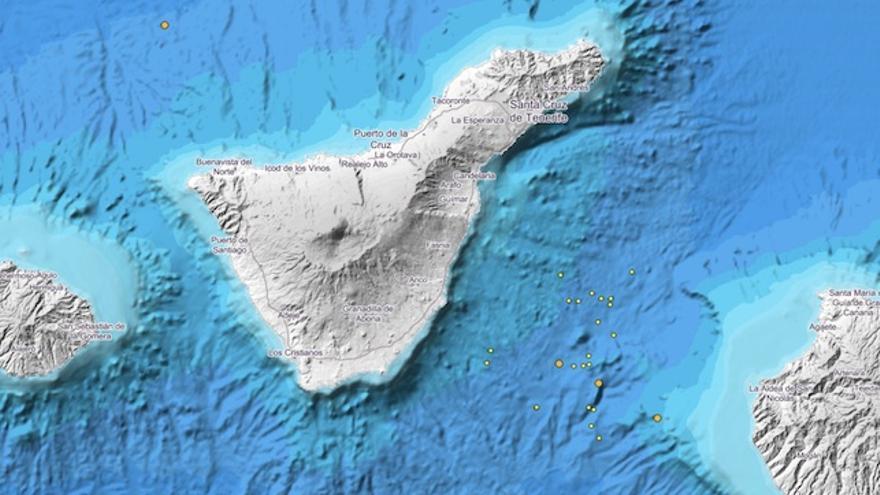 Terremotos registrados en Tenerife este 30 de abril