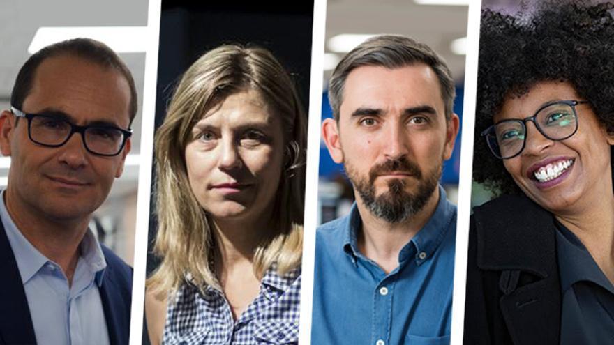David Jiménez, Judith Prat, Ignacio Escolar y Tania Adam.