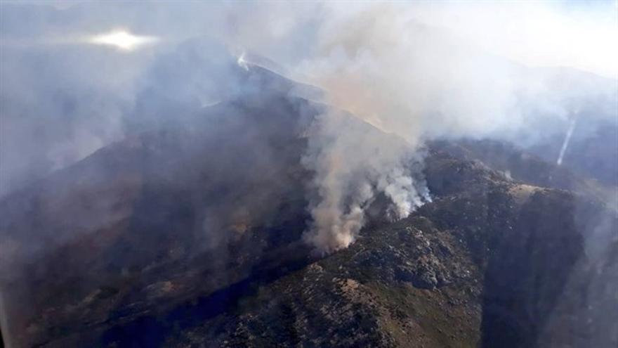 El incendio de El Raso en Ávila este domingo