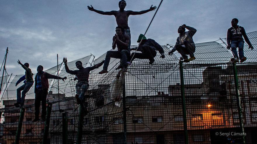 Una de las imágenes de la  exposición 'Somos migrantes'. Autor: Sergi Cámara.