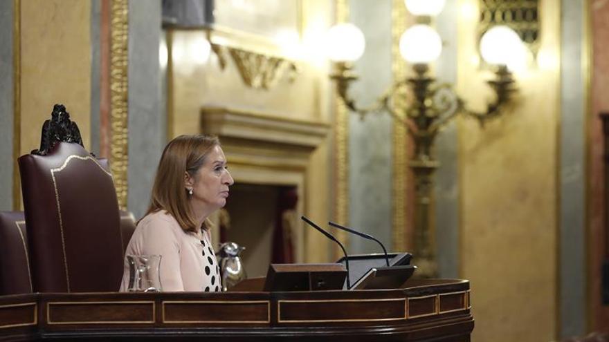Ana Pastor se reúne con el rey en Oviedo