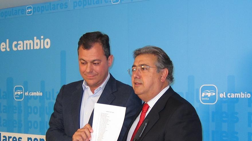 Zoido descarta convocar esta semana congreso extraordinario del PP-A y defiende la trayectoria de José Luis Sanz