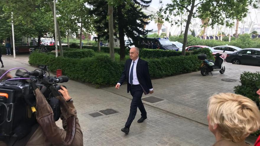 Rafael Blasco, a su entrada a la Ciudad de la Justicia