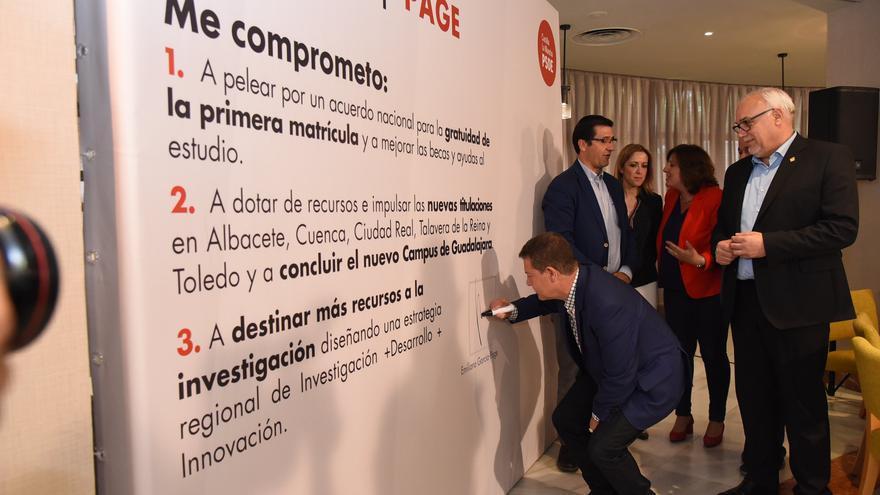 Emiliano García-Page, en campaña