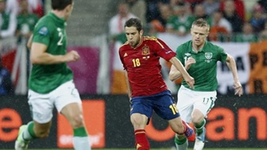 Jordi Alba Duff España Irlanda Selección Española