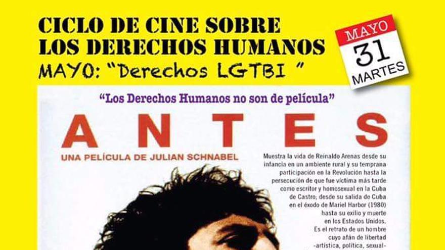 Cartel de la película 'Antes que anochezca'.