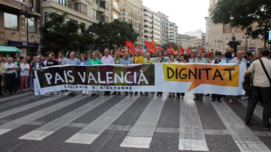 Manifestación 'Dignitat País Valencià'