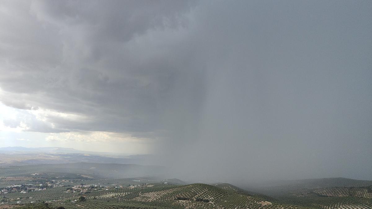 La tormenta que ha descargado sobre Lucena