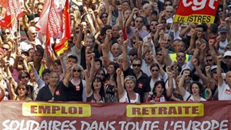 Manifestación en Francia contra la subida de la edad de jubilación