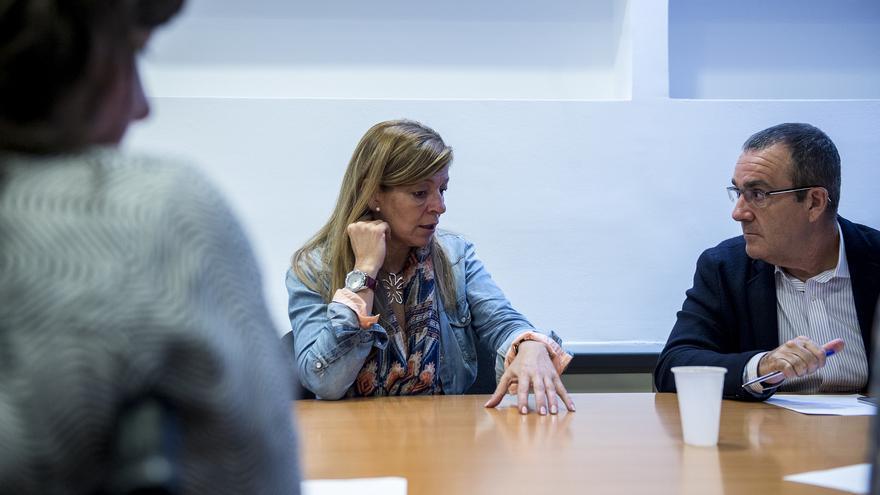 Ana Garrido, durante una reunión de Plataforma por la Honestidad./ Dani Gago