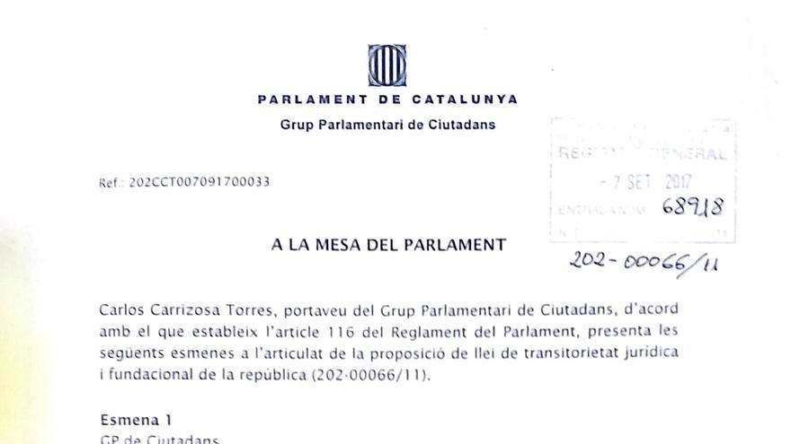 """C's pide cambiar la ley de transitoriedad por una de """"estatutariedad"""""""