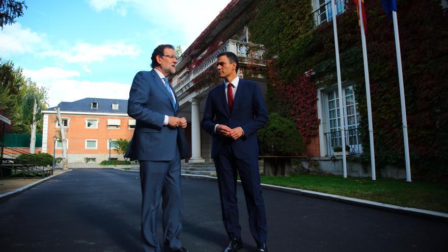 Mariano Rajoy y Pedro Sánchez, este miércoles en La Moncloa.