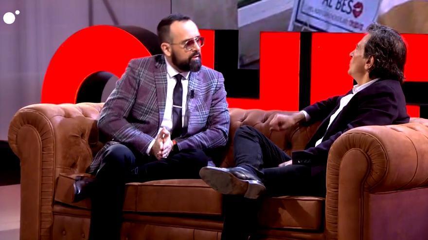 Risto Mejide y Arcadi Espada durante su entrevista en el Chester