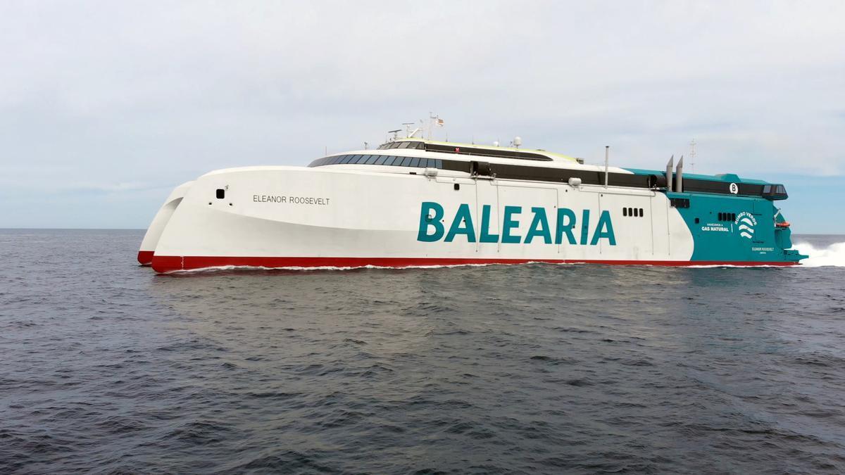 Un ferri de Baleària, companyia que opera entre la Comunitat Valenciana i Balears.