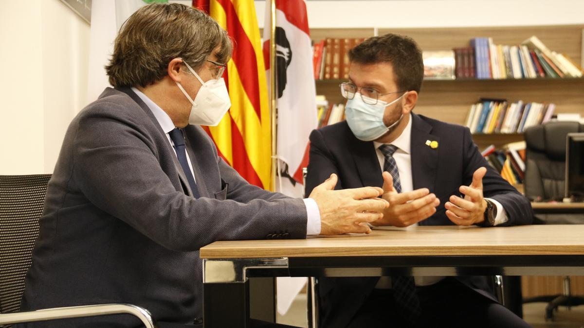 Puigdemont y Aragonès, este sábado en Cerdeña