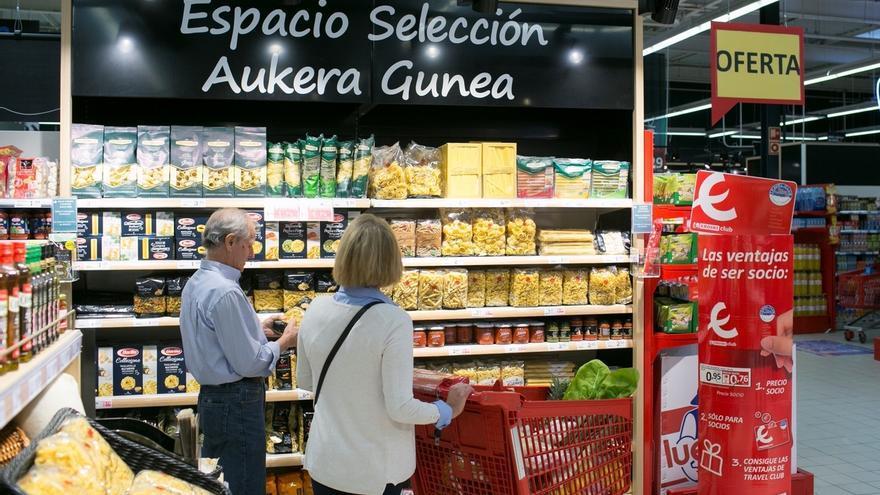 El índice de ventas en las grandes superficies y cadenas de alimentación de Euskadi sube un 4,4% en marzo