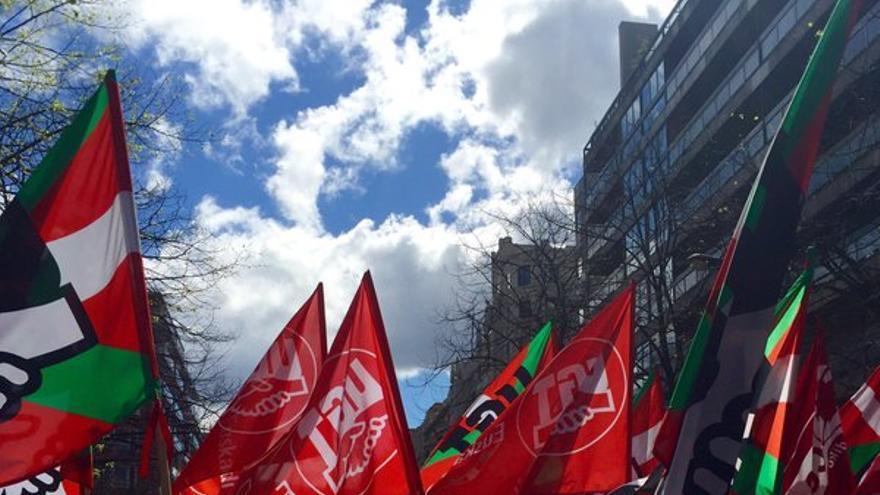 Imagen de la marcha del Primero de Mayo de CC OO y UGT en Bilbao / Foto UGT