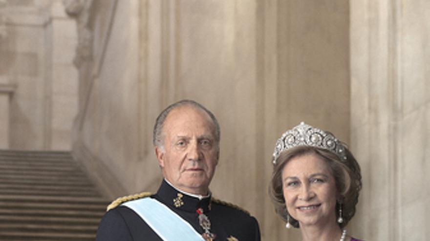 Los Reyes, don Juan Carlos y doña Sofía