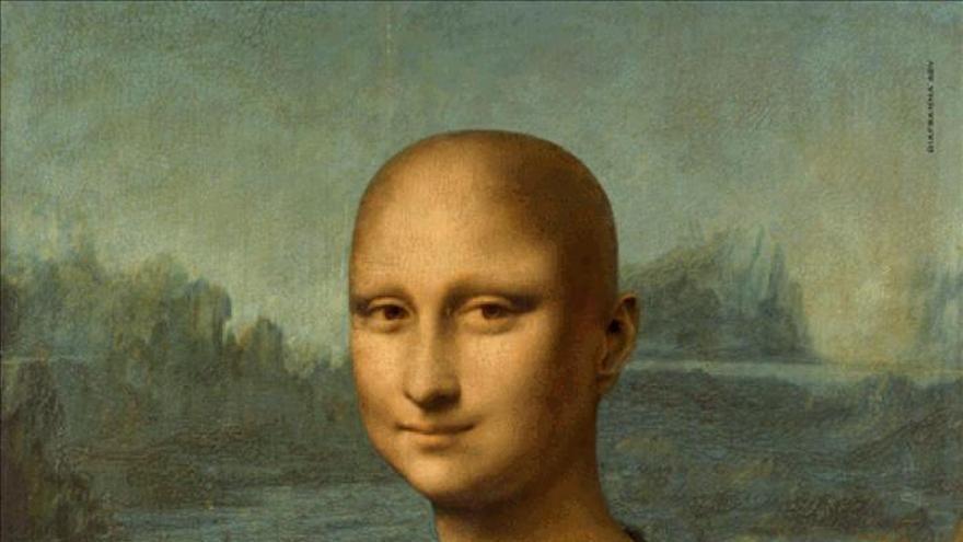 Una Mona Lisa calva concienciará a Italia sobre el cáncer