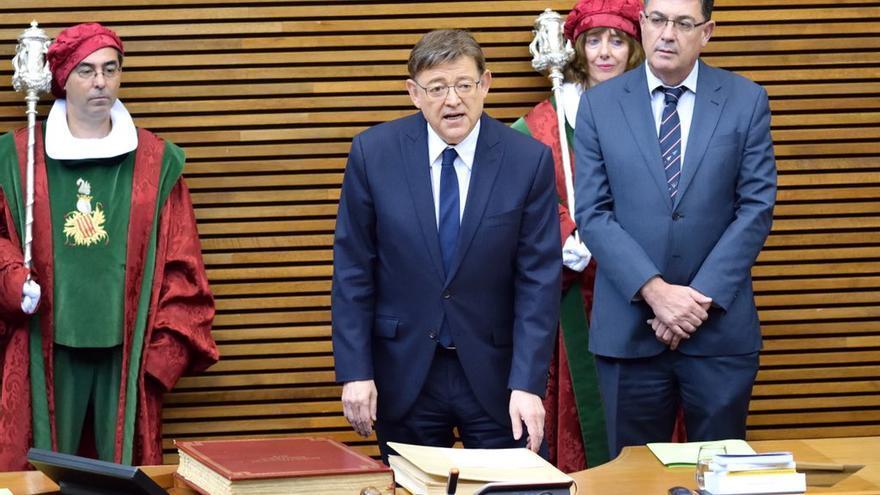 Ximo Puig promete su cargo en las Corts como president de la Generalitat