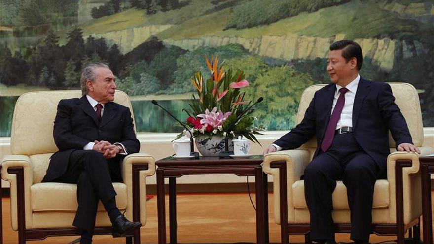 Temer asegura que Brasil y China avanzan en la solución de diferencias en lazos comerciales