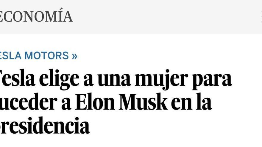 Tesla elige a una mujer