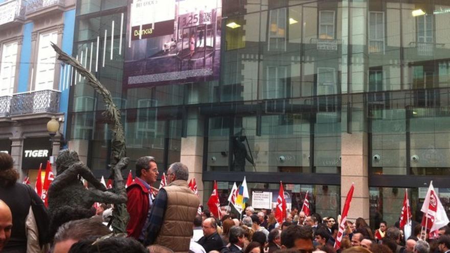 Protesta de empleados de Bankia en LPGC #12