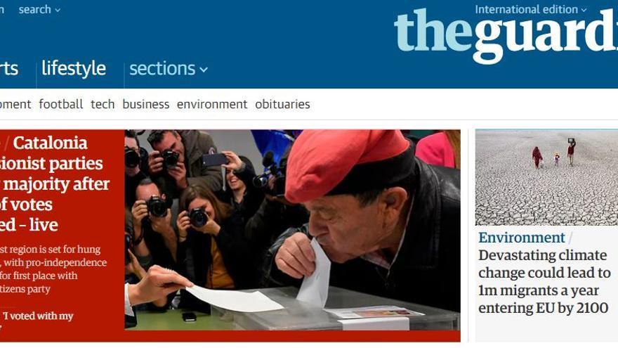 Portada de The Guardian