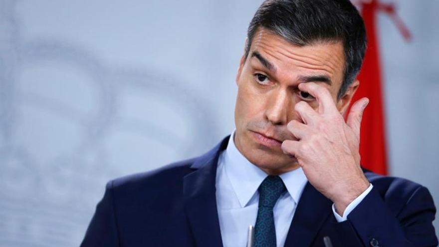 El presidente del Gobierno, Pedro Sánchez, en La Moncloa.