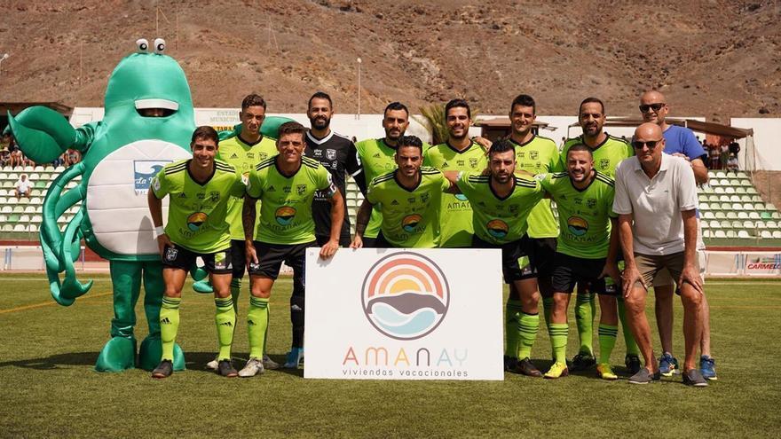 Formación del Gran Tarajal frente al TNK Vera en la Copa del Rey