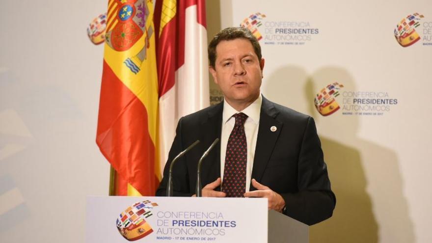 Emiliano García-Page, en rueda de prensa tras la Conferencia de Presidentes
