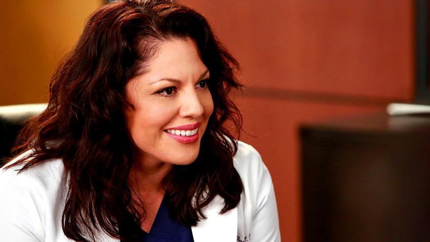 Sara Ramírez, en un episodio de Anatomía de Grey