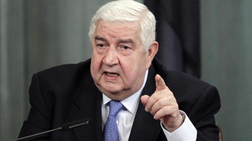 El ministro sirio de Exteriores insta a la oposición a deponer las armas y a dialogar