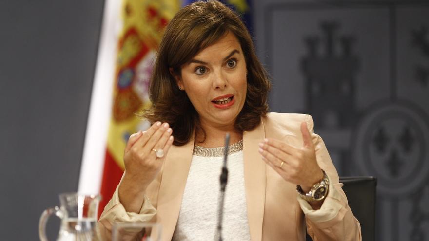 La vicepresidenta del Gobierno, Soraya Saénz de Santamaría. EUROPA PRESS