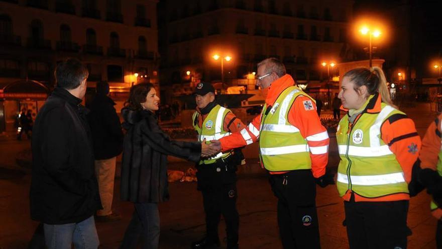 La alcaldesa también ha estado en las calles de la ciudad en la operación de esta madrugada