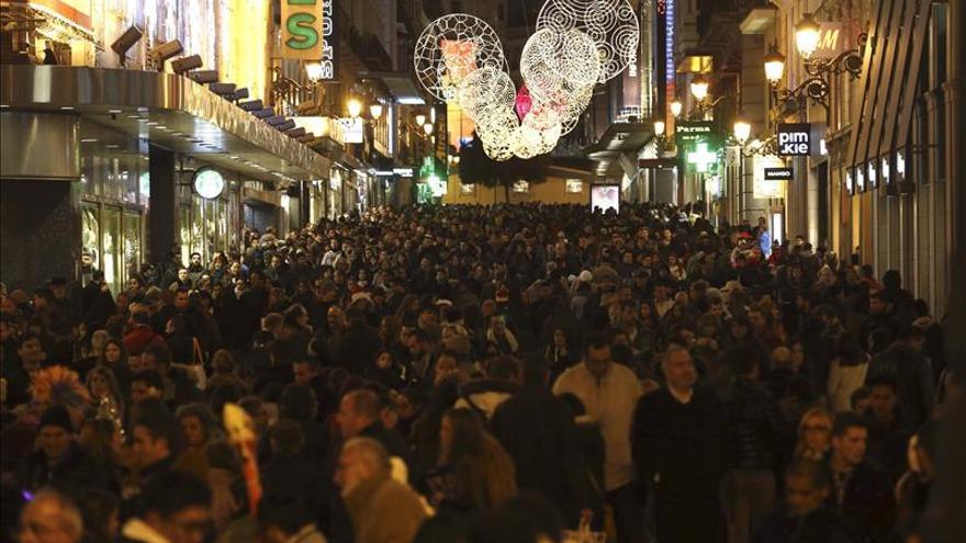 La calle Preciados colapsada en Navidad en una imagen de archivo.