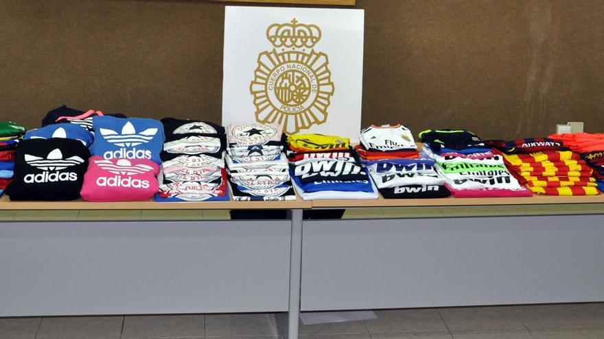Prendas decomisadas por la Policía Nacional.