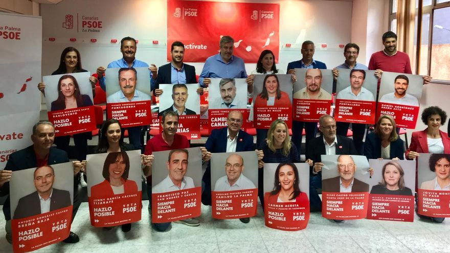 Inicio de campaña en la sede del PSOE.
