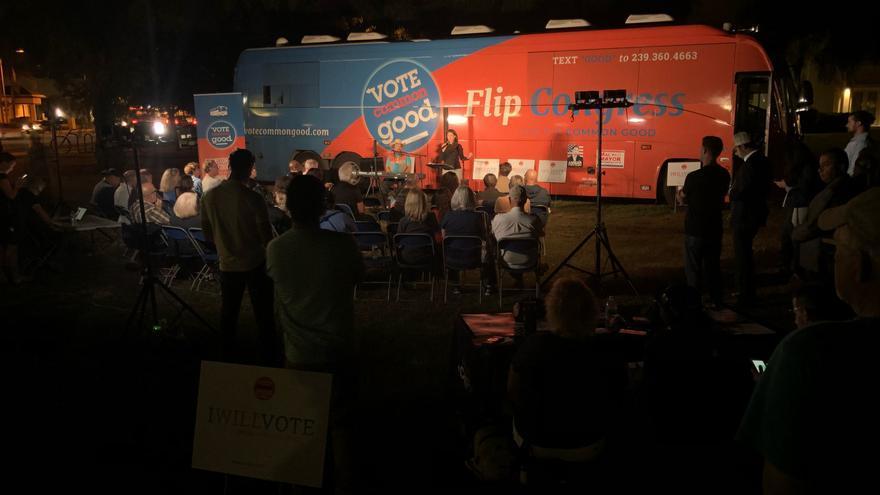 La campaña Vote Common Good durante un acto celebrado el 27 de octubre.