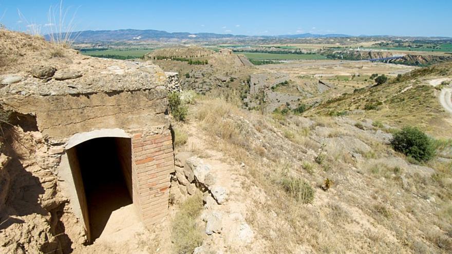 Posición fortificada en las inmediaciones del Río Jiloca.