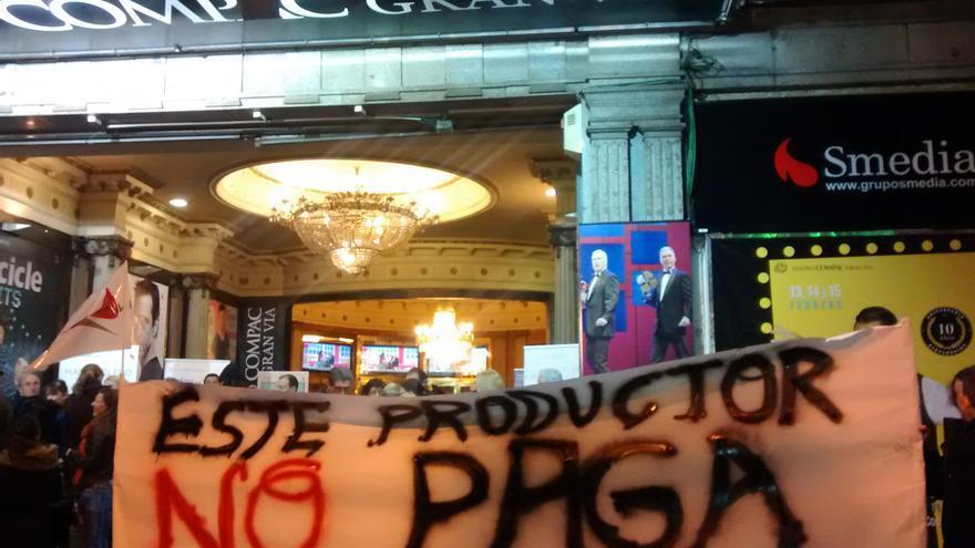 Manifestación de los actores de 'Pretty woman' en el teatro Compac de Madrid el pasado miércoles