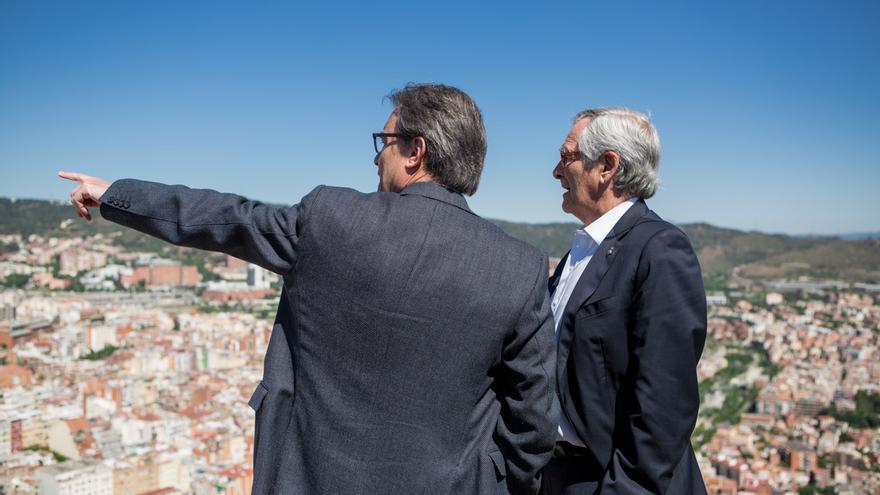 Artur Mas i Xavier Trias al Turó de la Rovira / ENRIC CATALÀ