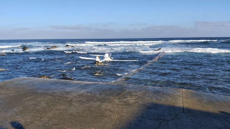 Avioneta accidentada en la costa de Moya