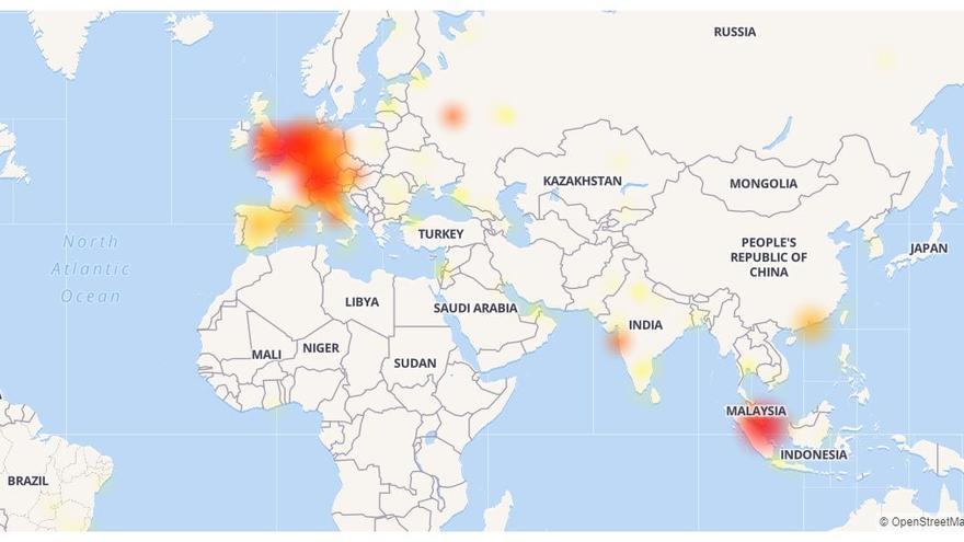 Zonas en las que WhatsApp presenta fallos de conexión
