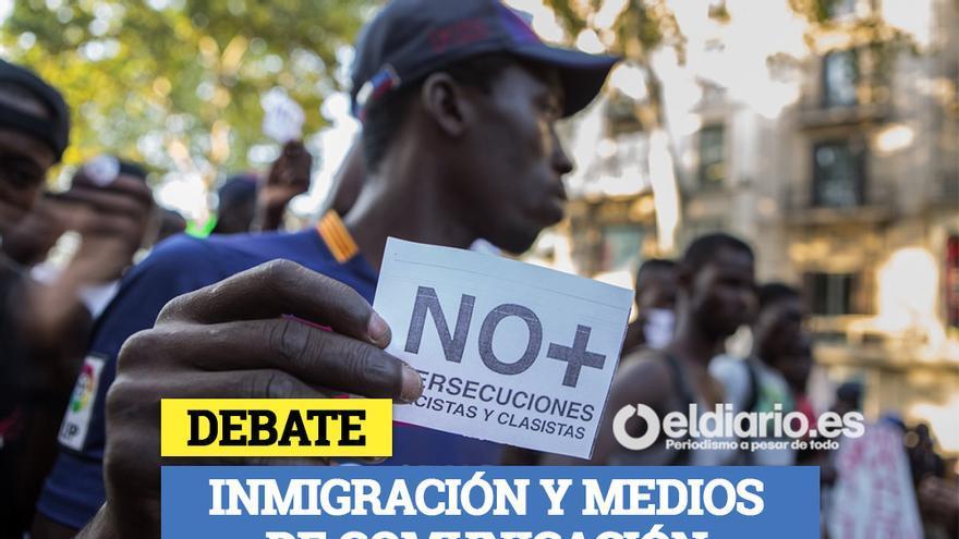Cartel de la mesa redonda 'Racismo y medios de comunicación'.