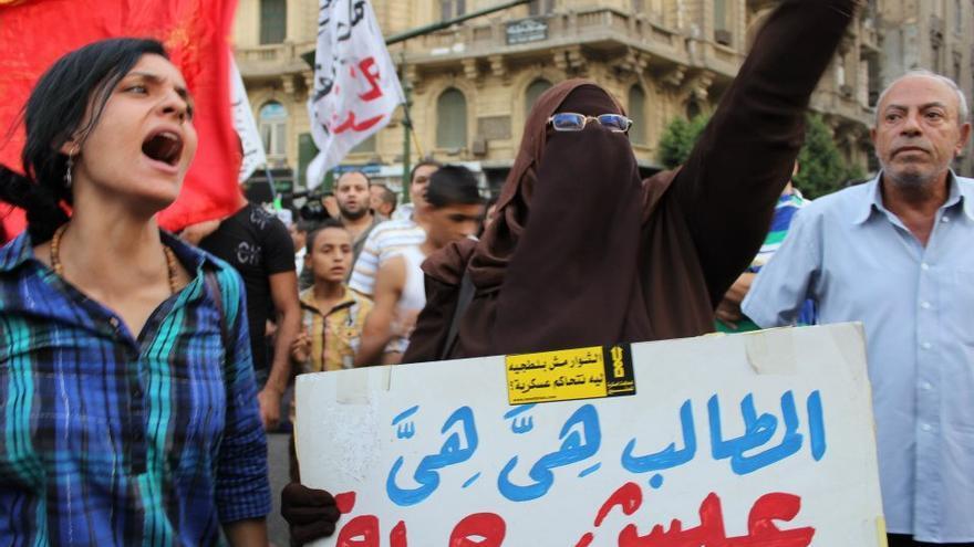 Protesta contra el gobierno y la Junta militar egipcios. El Cairo, 1 septiembre 2012 (Gigi Ibrahim)
