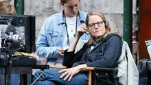 La directora Jodie Foster, en el set de rodaje de 'Money Monster'