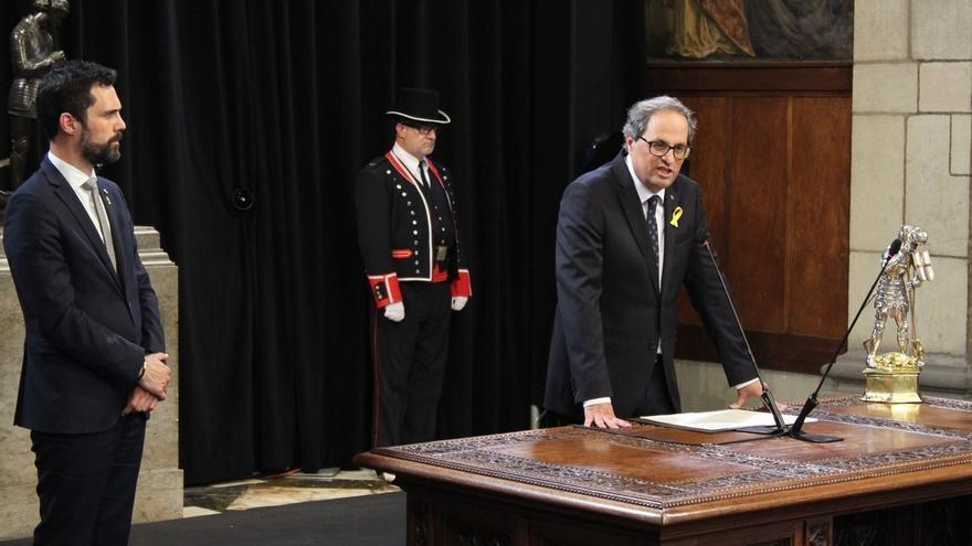 """Torra pide a Torrent ser parte de la respuesta a la sentencia y tener """"presente"""" a Puigdemont"""